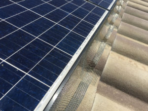 Solar Panel Pigeon Barrier 1