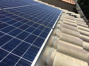 Solar Panel Pigeon Barrier 2