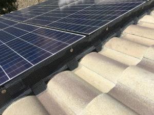Solar Panel Pigeon Barrier 3