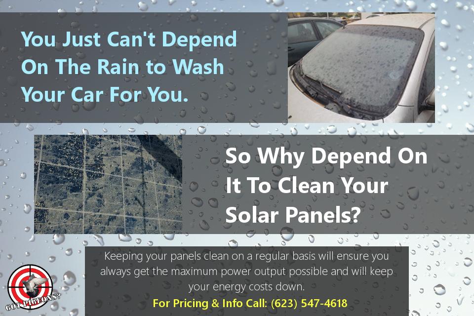Rain Does Not Clean Solar Panels